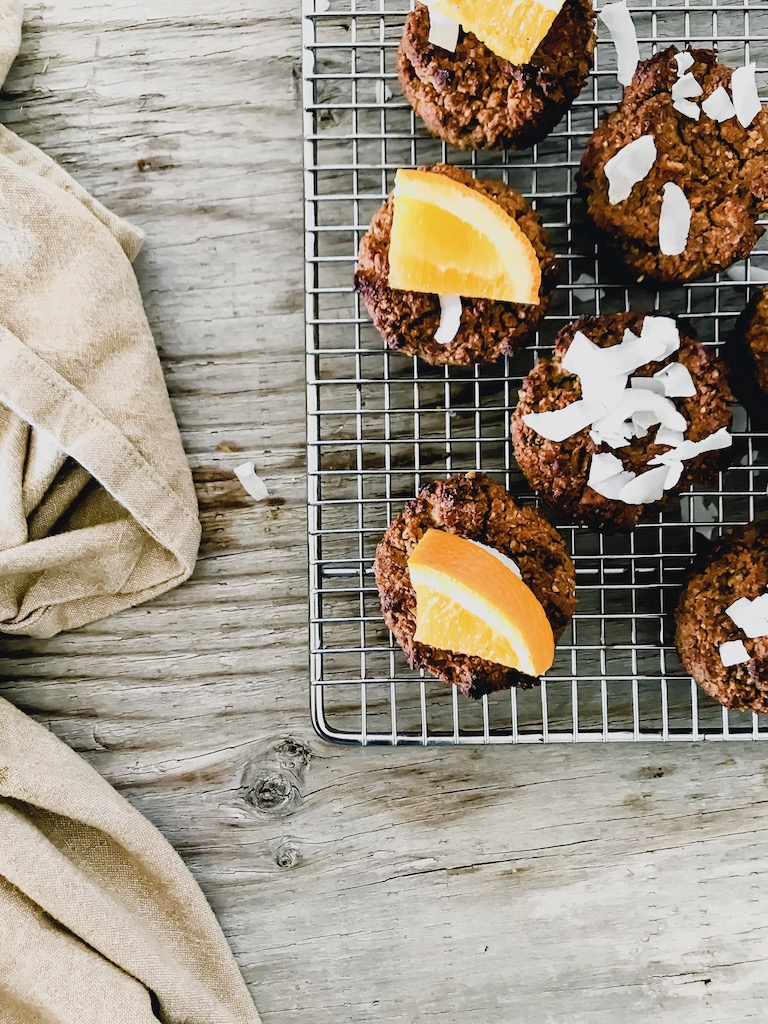 vegan orange muffins
