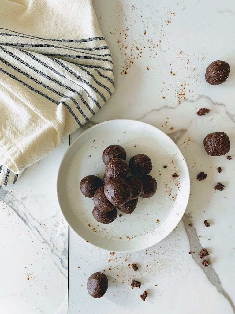 mint chocolate balls