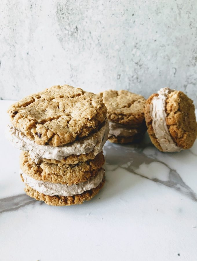 coffee ice cream sandwiches