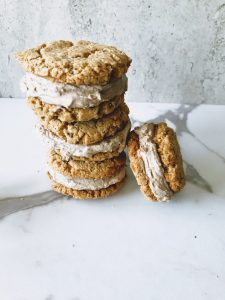 stacks of vegan ice cream sandwiches