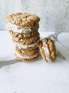 stacks of vegan ice cream sandwiches