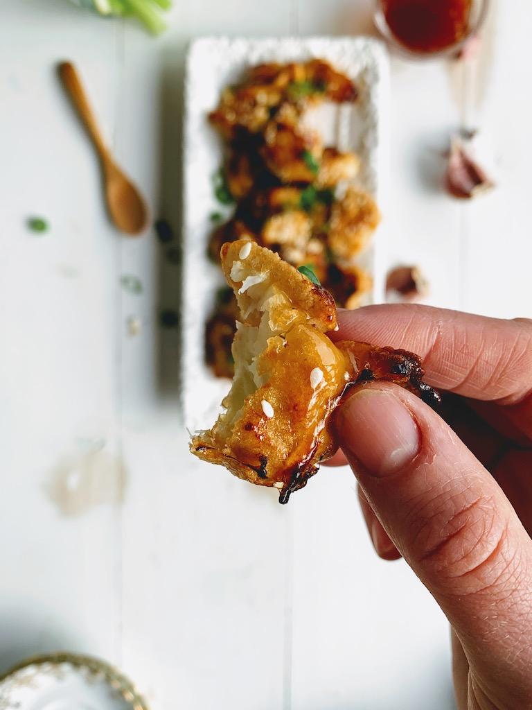 maple garlic cauliflower wings