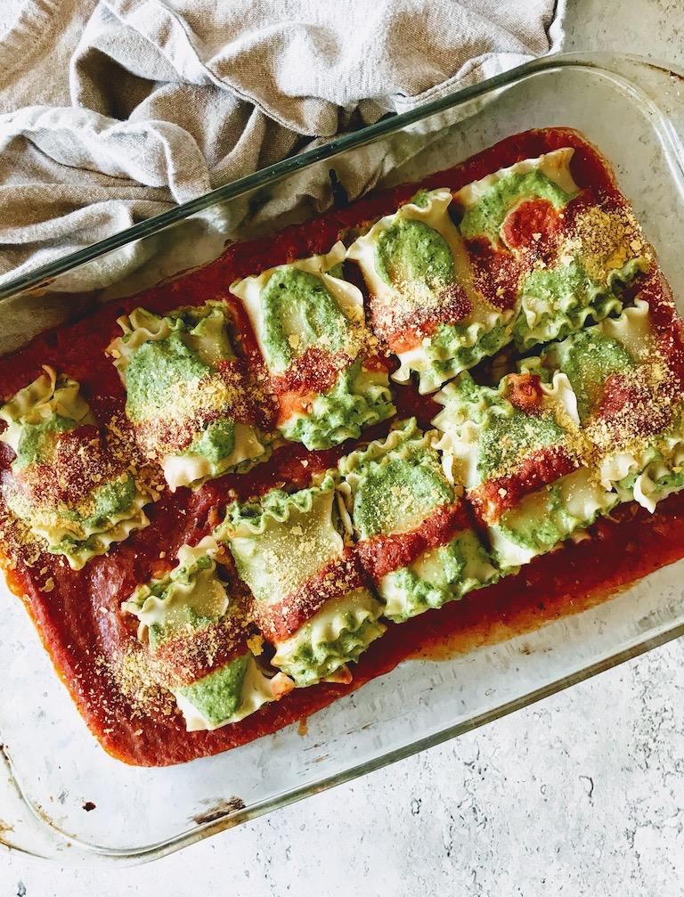 vegan pesto lasagna