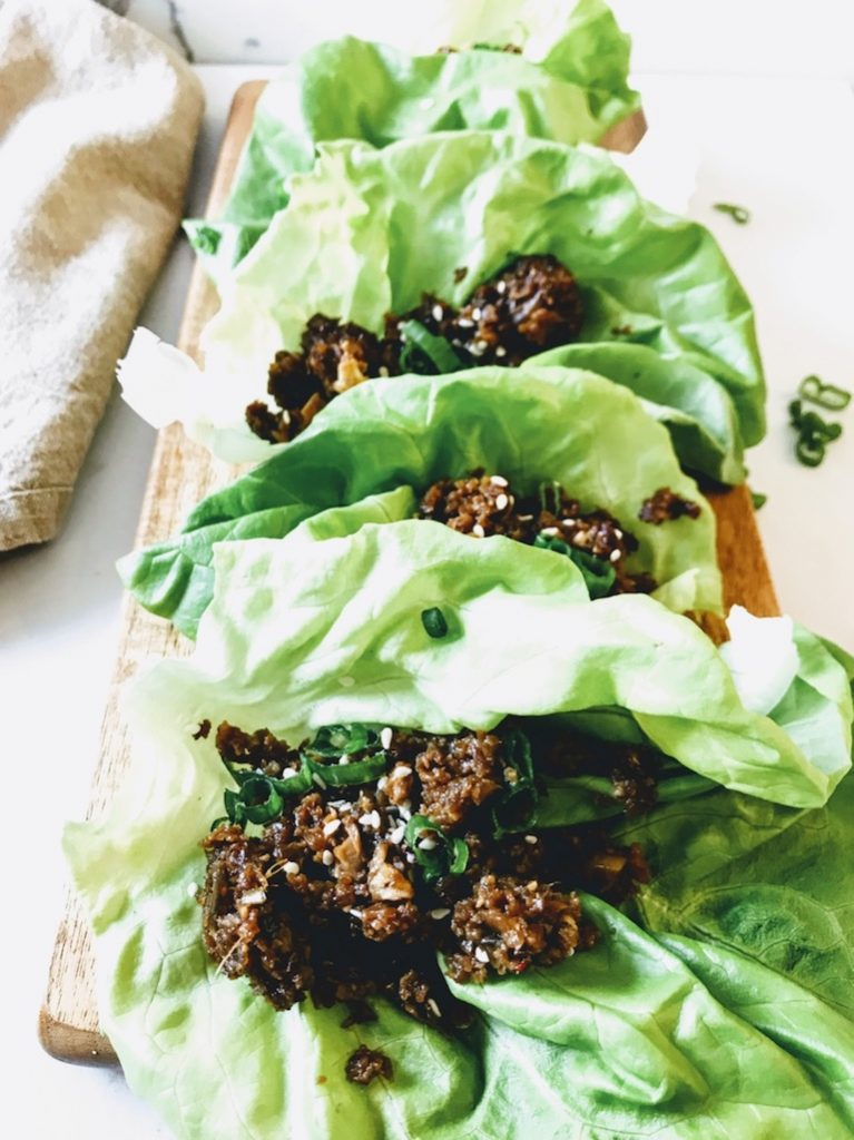 healthy vegetarian lettuce wraps