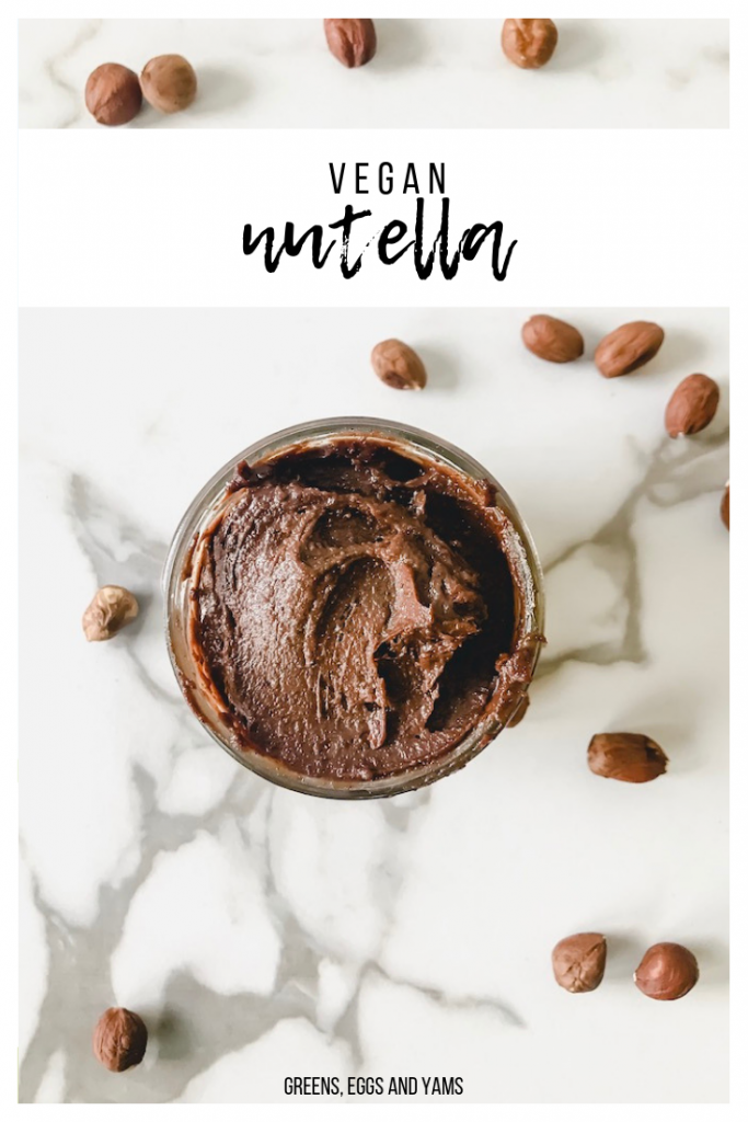 vegan nutella | Greens, Eggs, and Yams |