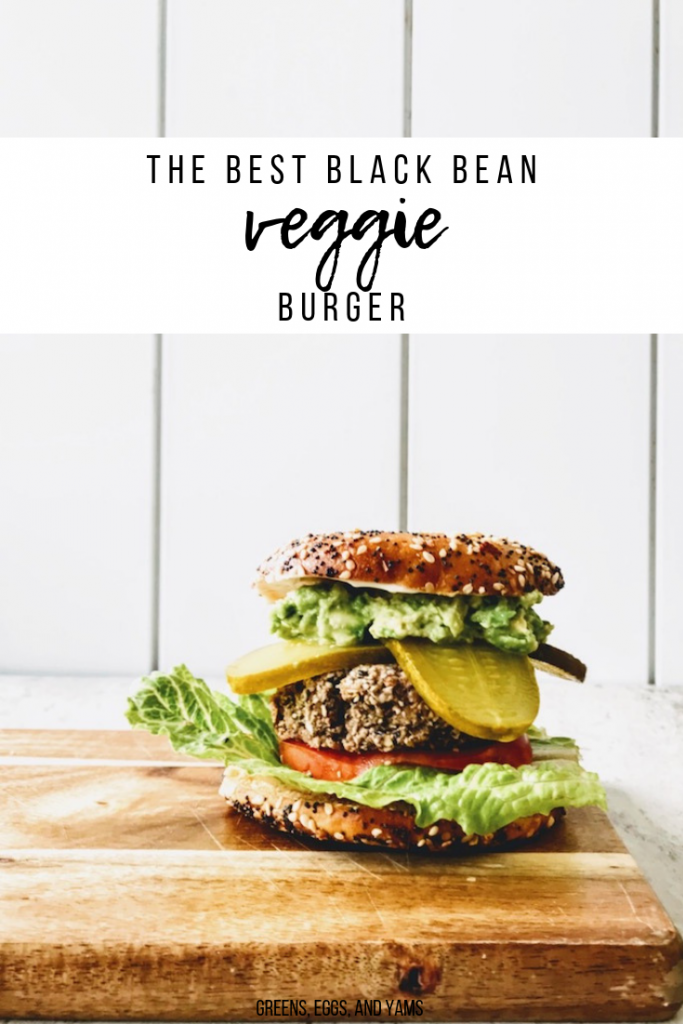 black bean veggie burger pin