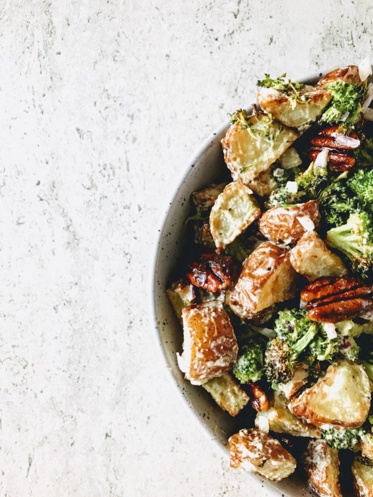 close up of potato salad | Greens, Eggs, and Yams |
