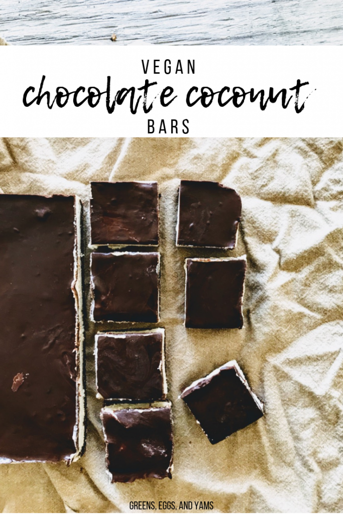 vegan chocolate coconut squares