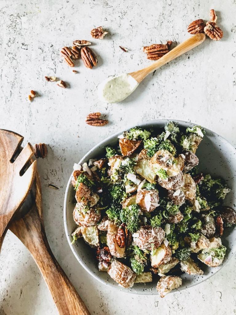 Vegan Potato Broccoli Salad | Greens, Eggs, and Yams |