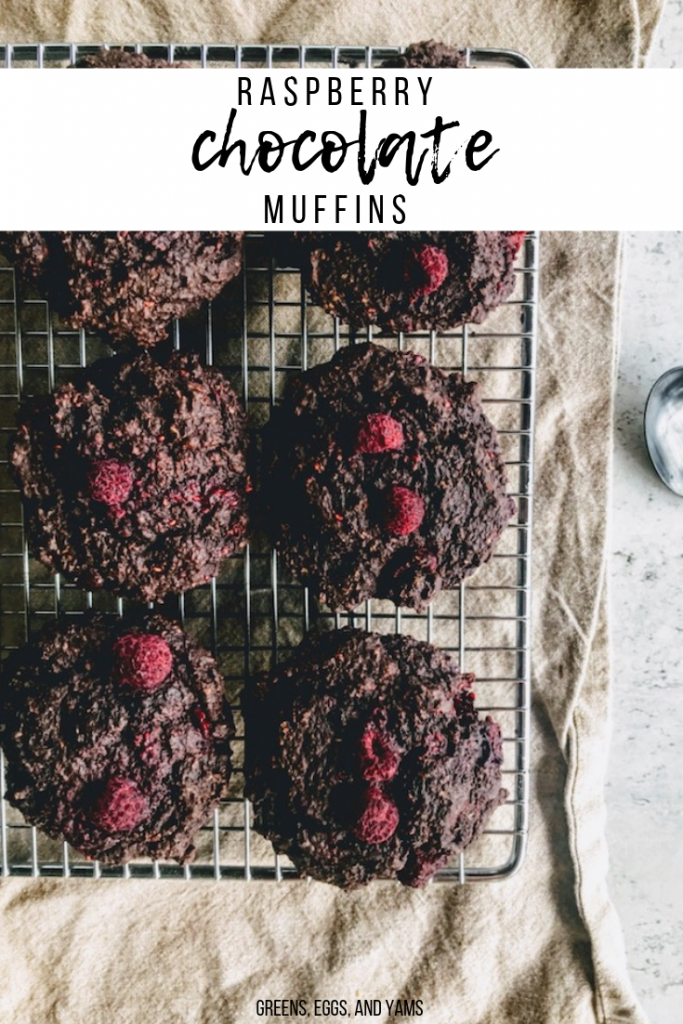 Vegan Raspberry Chocolate Muffins |Greens, Eggs, and Yams|