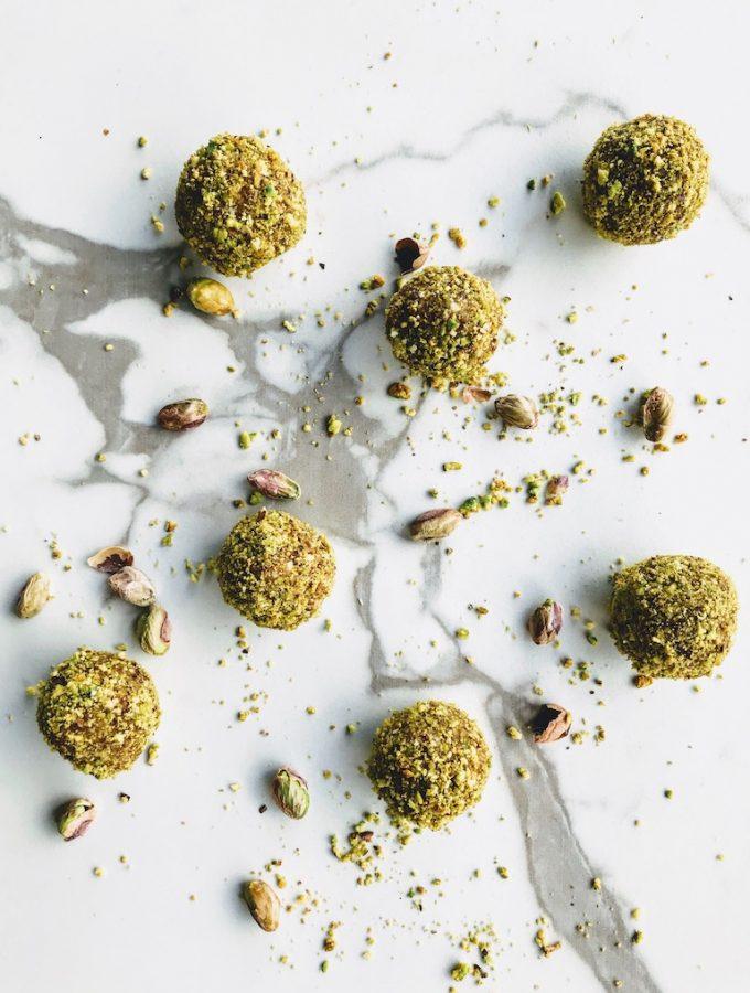 vegan pistachio energy balls