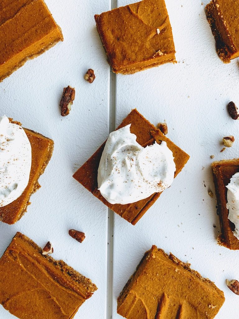coconut whip and pumpkin bars