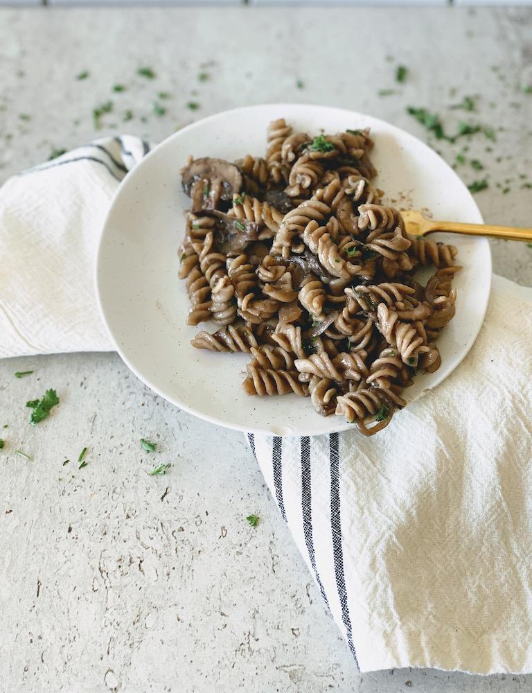 gluten free mushroom pasta