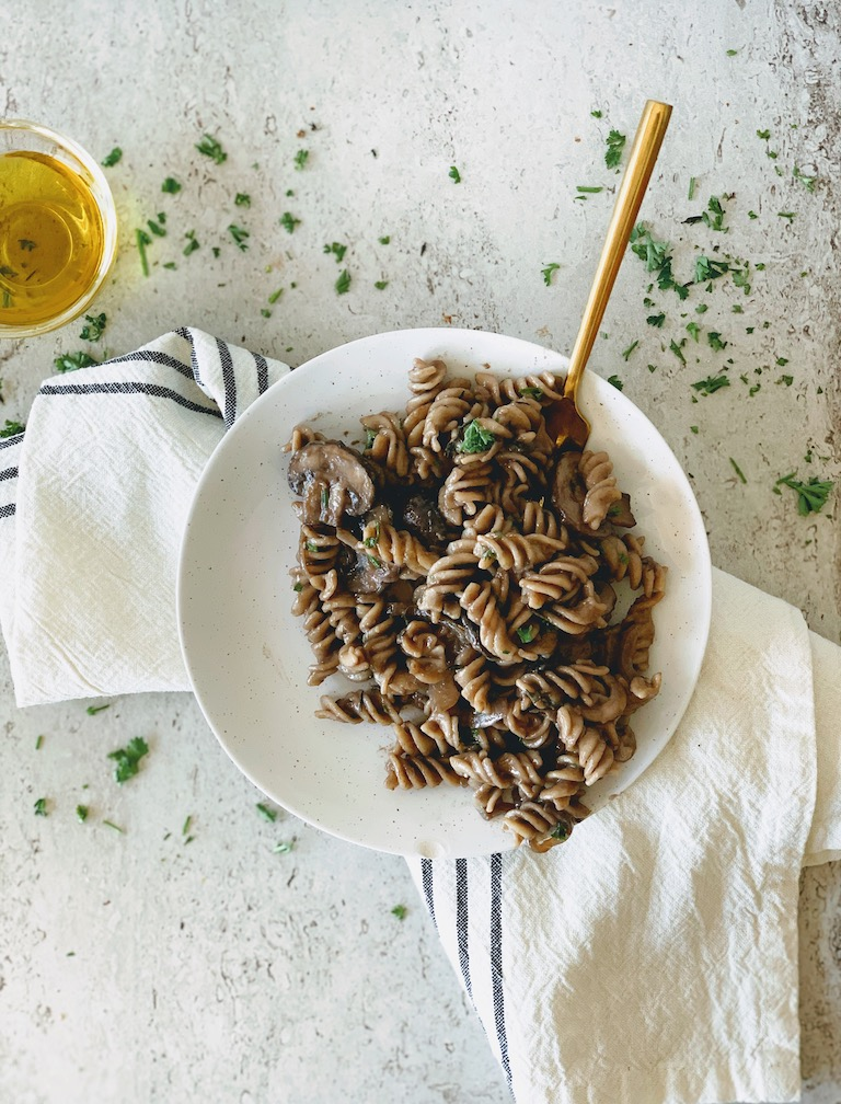vegan pasta mushrooms