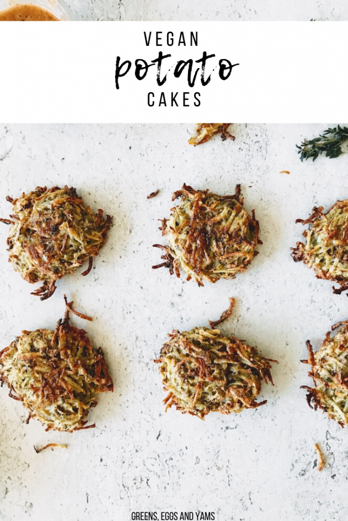 shredded vegan potato cakes