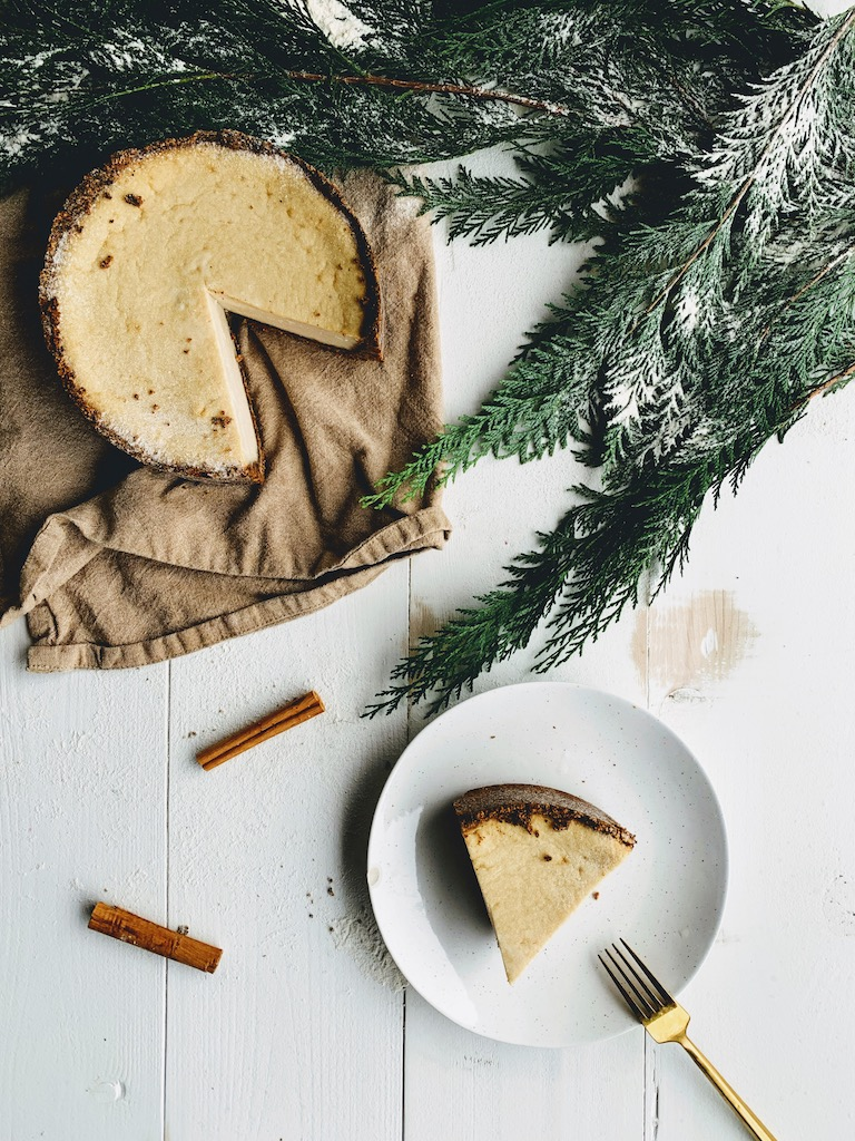 baked ginger cheesecake
