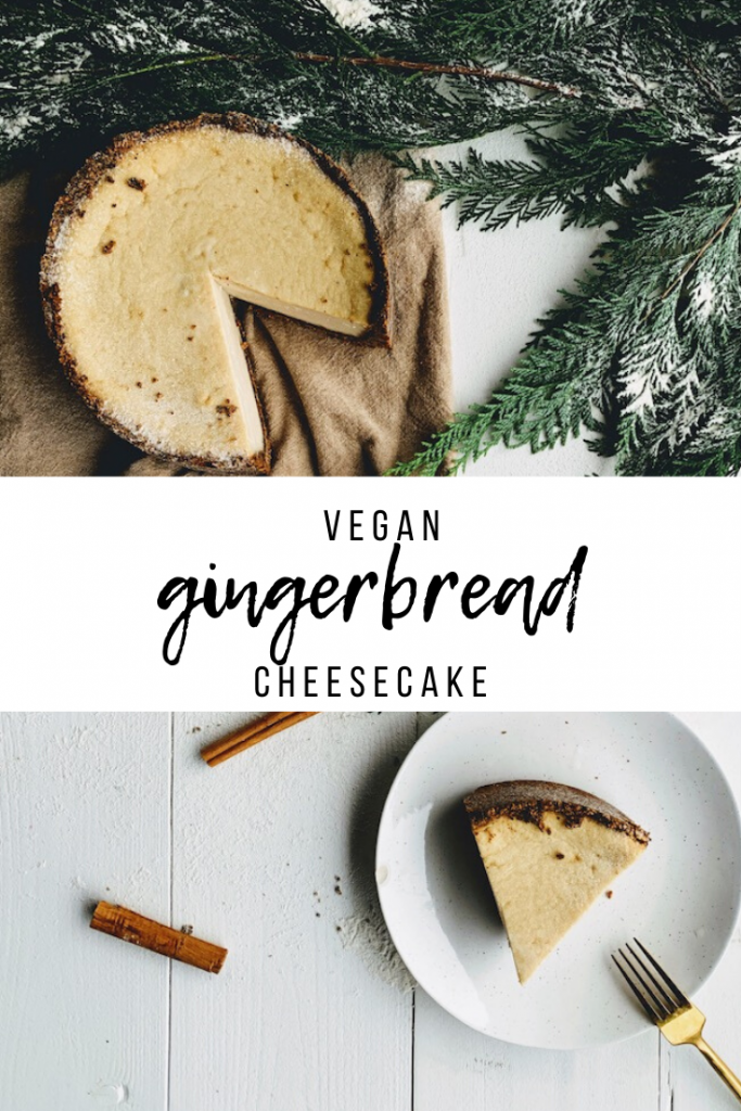 vegan gingerbread cheesecake