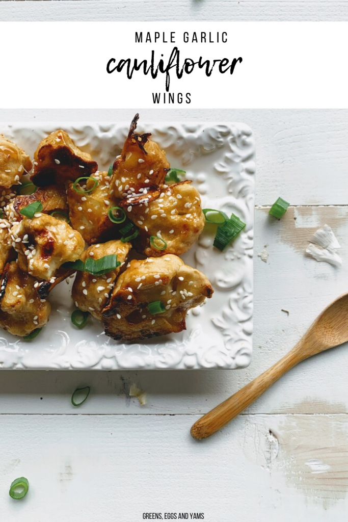 maple garlic cauliflower wings