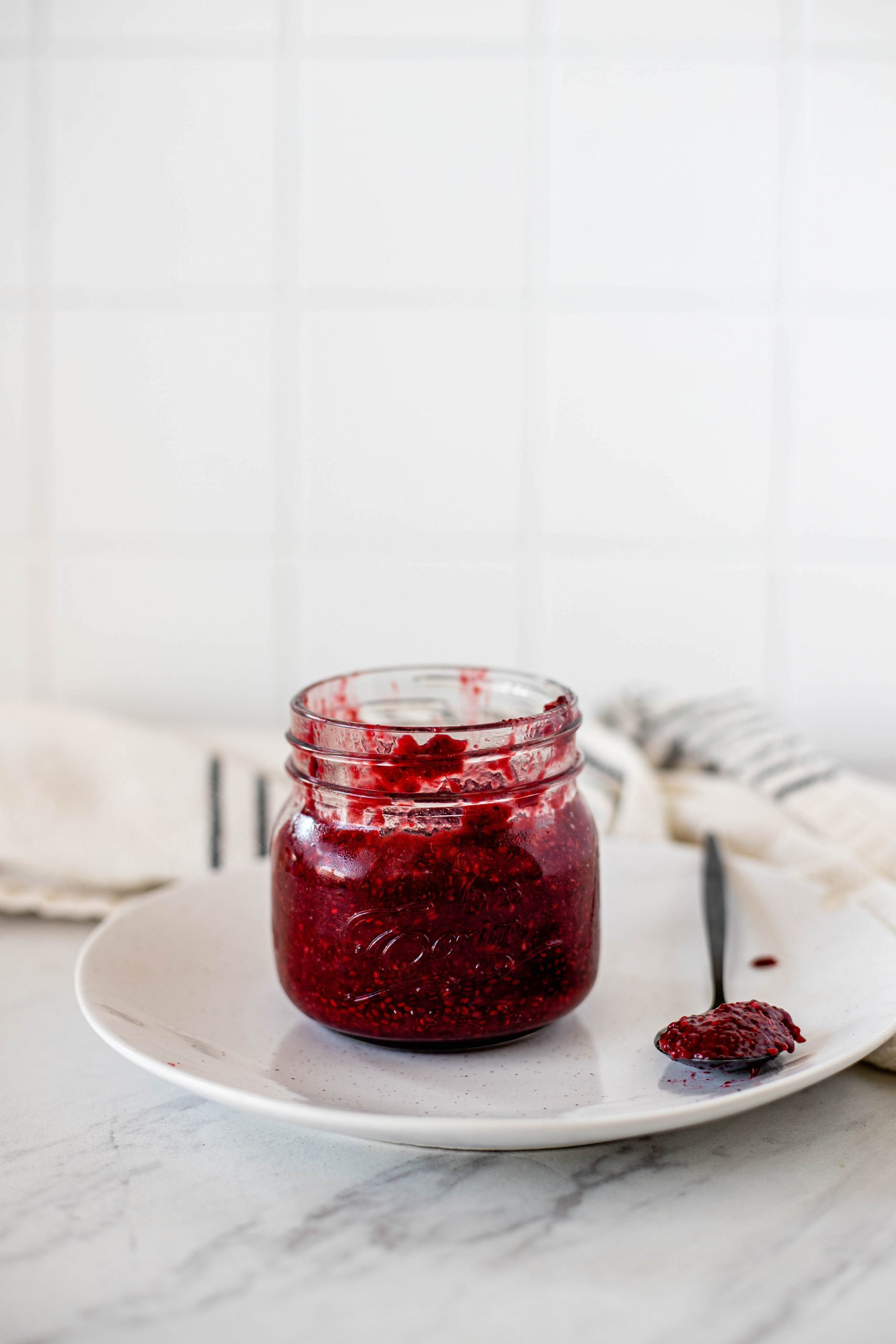 healthy raspberry chia jam