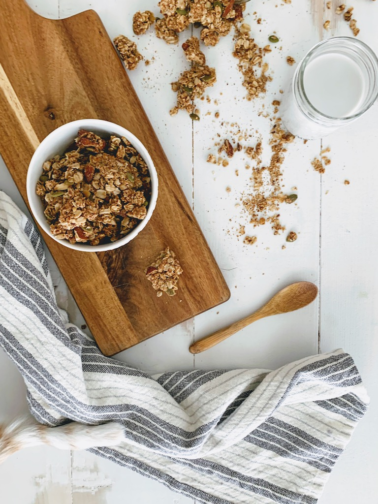 homemade granola clusters