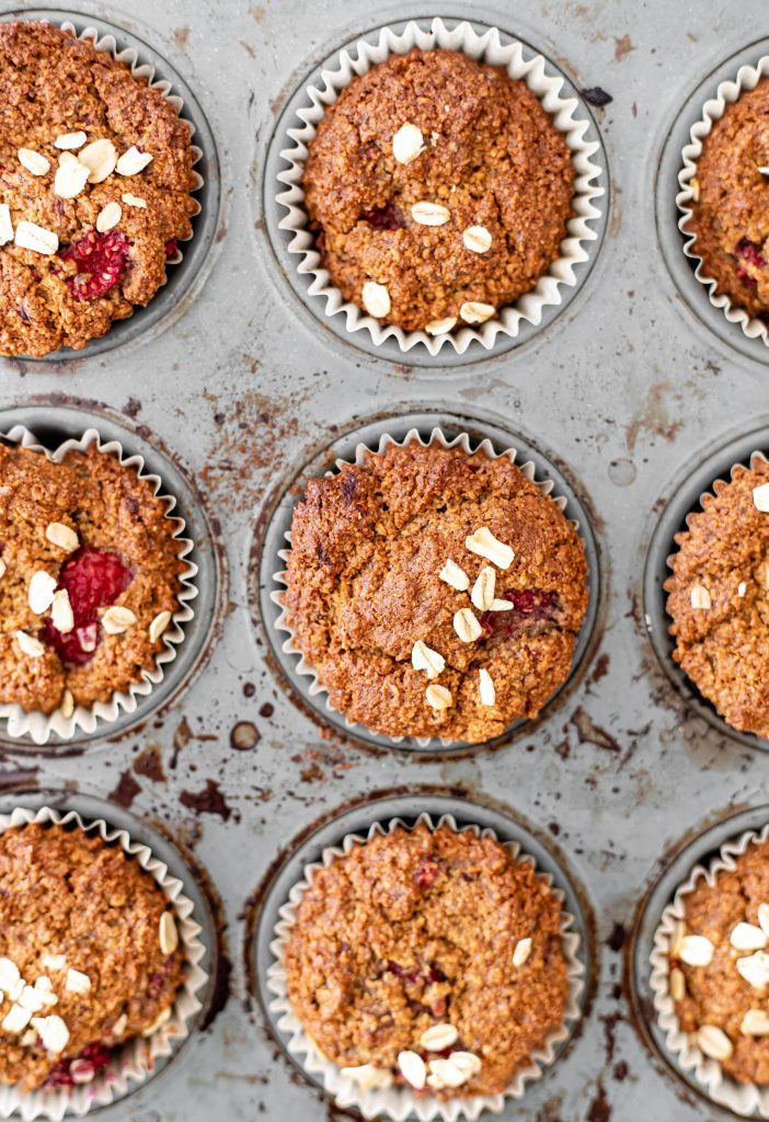 baked raspberry muffins