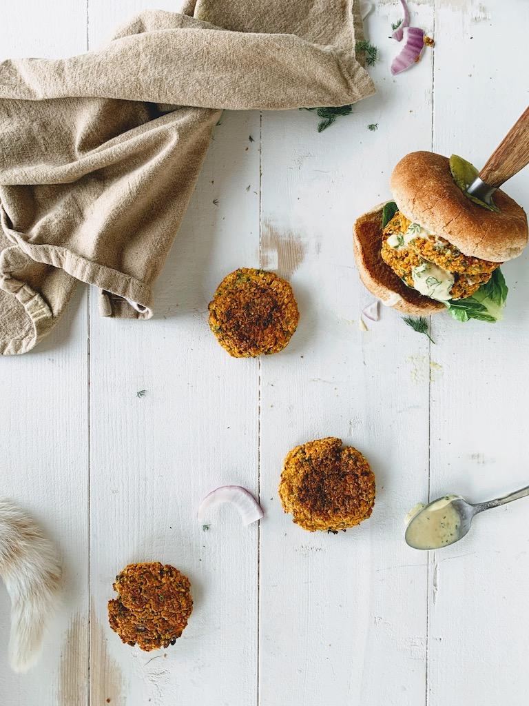 vegan lentil patties
