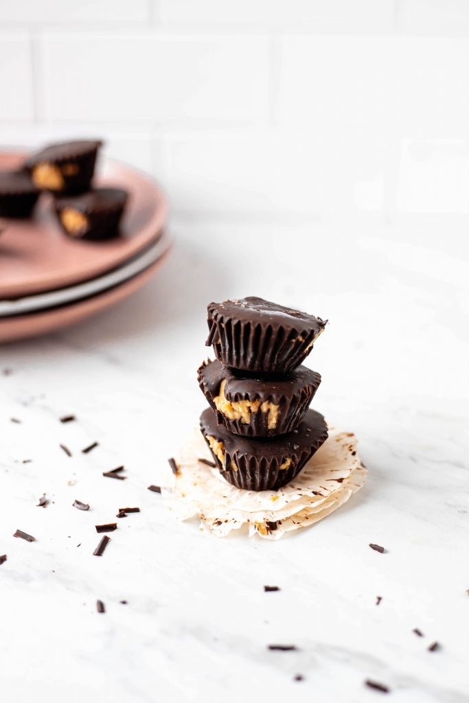 caramel chocolate cups