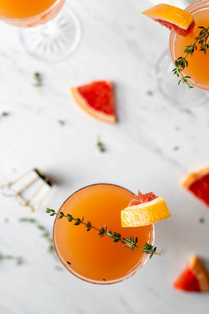 champagne and grapefruit juice