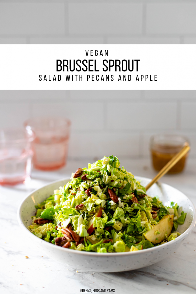 Vegan brussel sprout salad