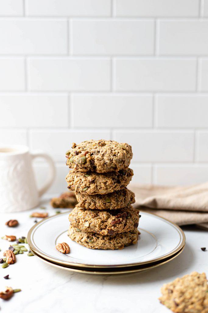 healthy vegan oatmeal cookies