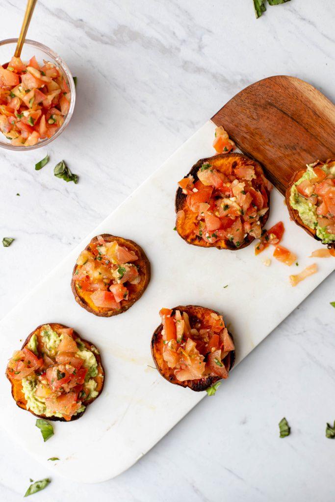 vegan loaded sweet potato