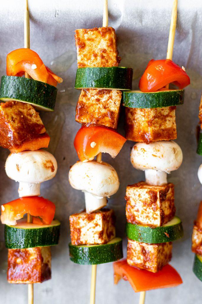 tofu and veggie kabobs