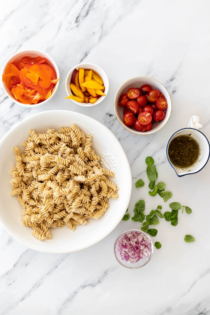 ingredients for pasta salad