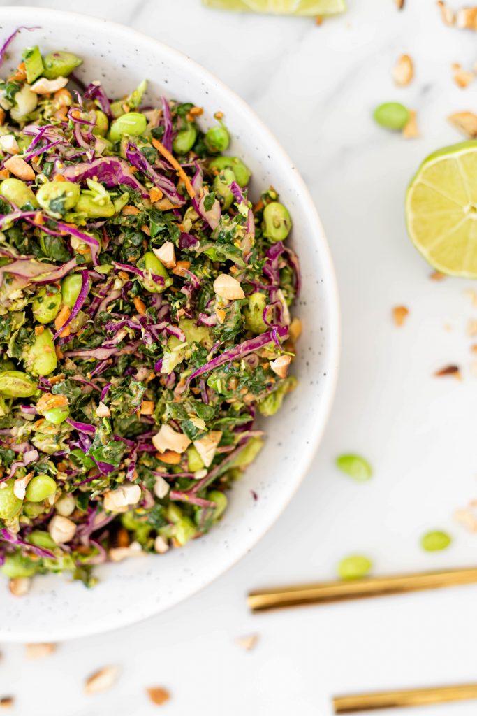 close up of thai salad