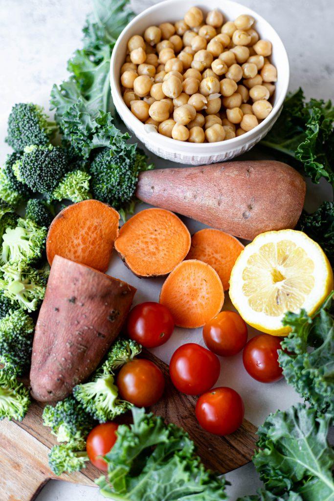 vegan sheet pan ingredients