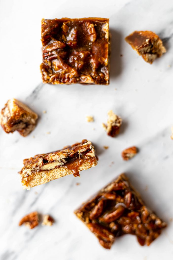 healthy pecan pie bars
